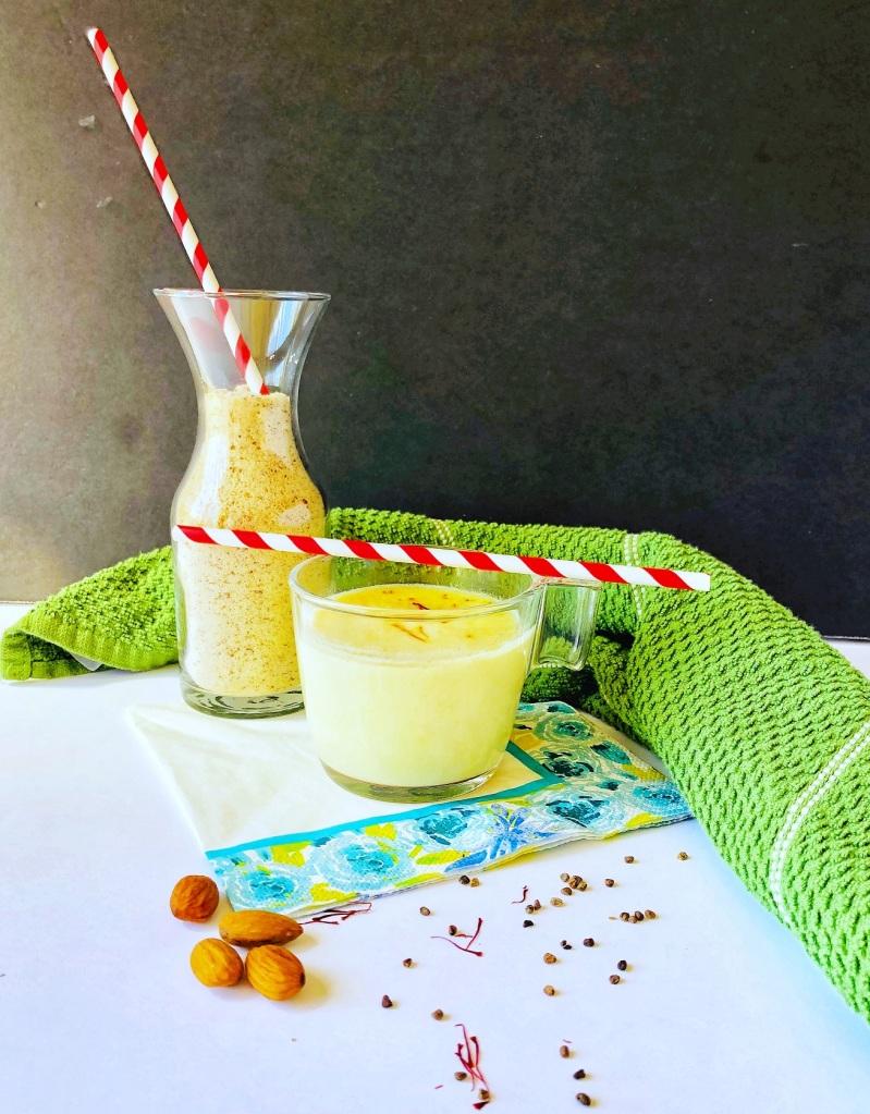 Saffron Almond Milk