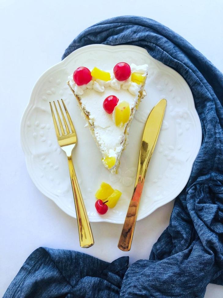 Tropical Pineapple Pastry - Yogurt based, Eggless