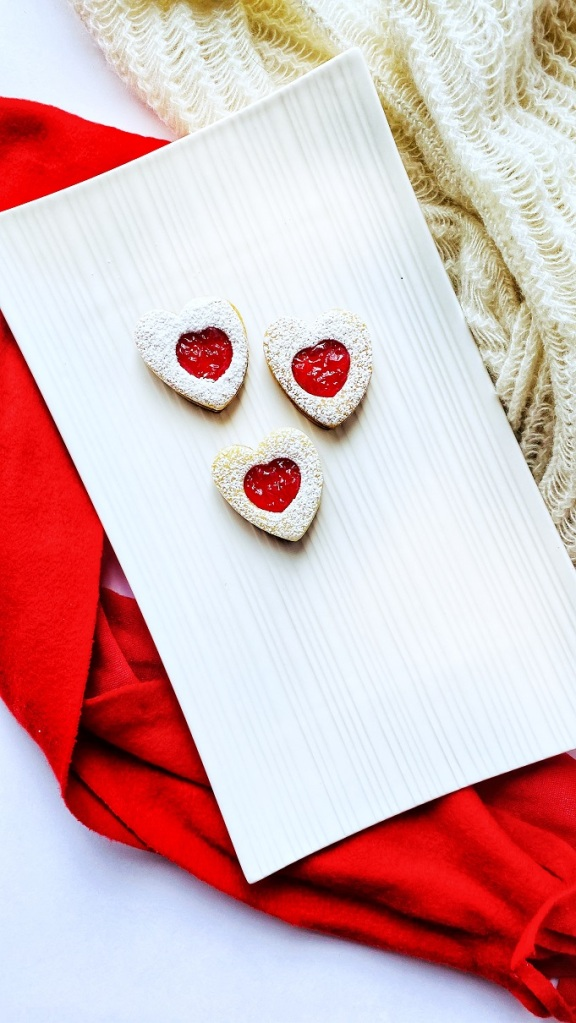 Linzer Cookies Valentines Day cookies Heart Cookies Love Cookies