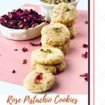 Vegan Rose Pistachio Cookies