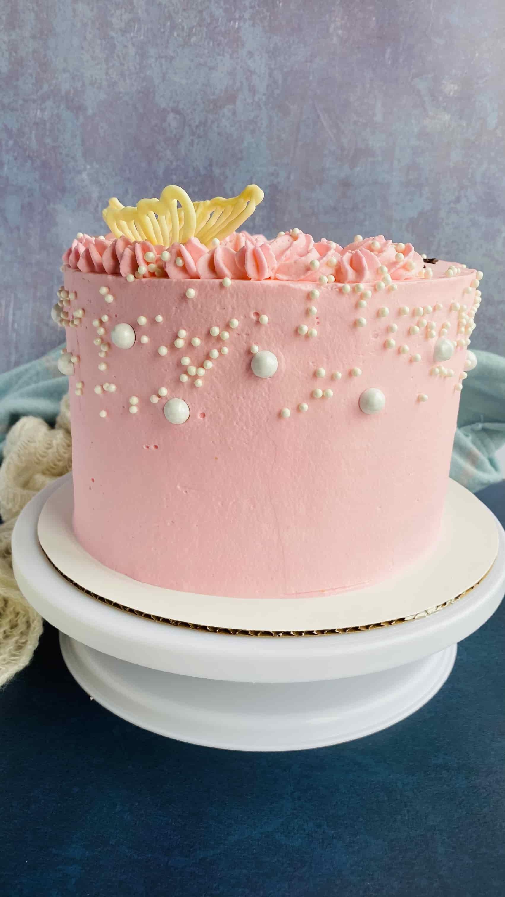 Rosettes & Butterflies Cake!